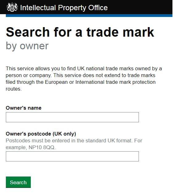イギリス商標調査